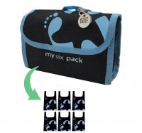 Reusable bag 6-Pack Footprint Bag - Blue Original