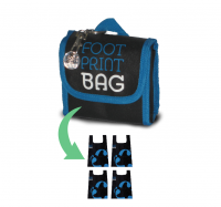 Reusable bag 4-Pack Footprint Bag - Blue Original