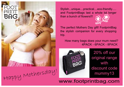 Mothers Day Gift Footprint Bag
