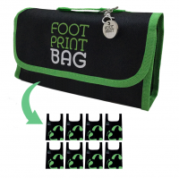 Reusable bag 8-Pack Footprint Bag - Green