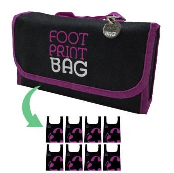 Reusable bag 8-Pack Footprint Bag - Purple