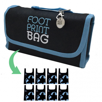Reusable bag 8-Pack Footprint Bag - Blue