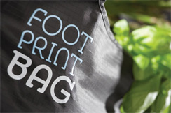 Footprint bag eco shopping bag